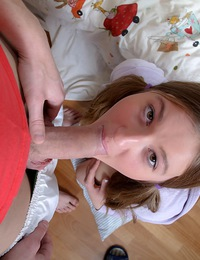 Teen chick enjoying his solid schlong in her tight muff